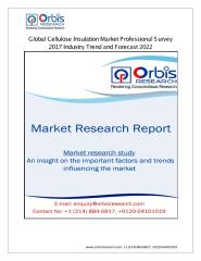 Global Cellulose Insulation Market Professional Survey 2017.pdf