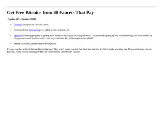 Get Free Bitcoins from 40 Faucets That Pay.docx