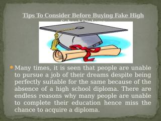 Tips to consider before Buying fake high school diploma.pptx